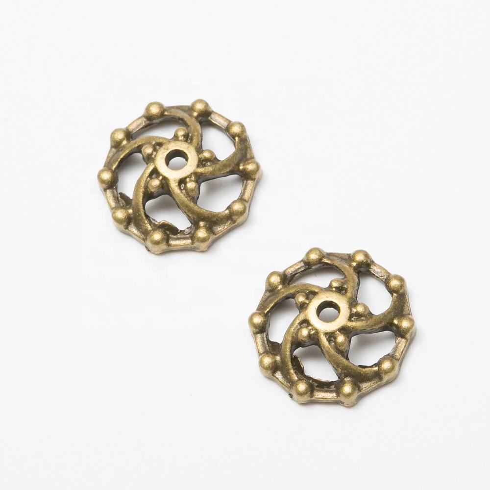 749a5a232112 Fábrica de joyas de hueco de Metal en forma de flor perlas casquillo de  partes para