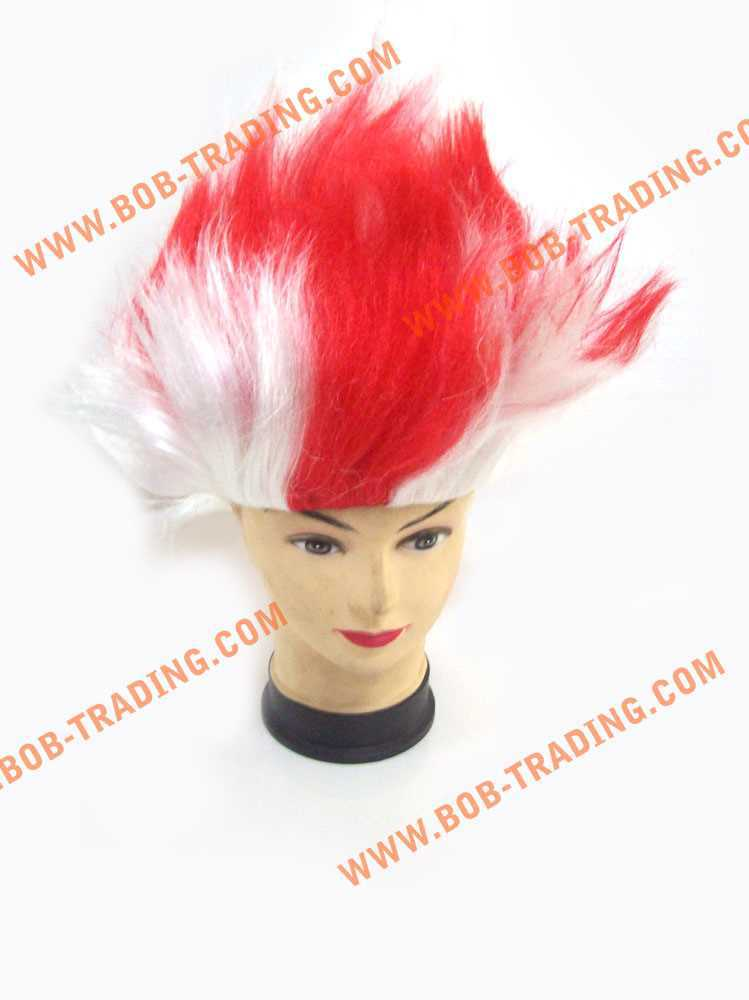 Soccer/football fans wigs/party wigs hair clips for dogs