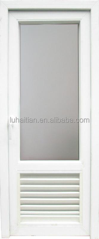 Bathroom Upvc Doors upvc bathroom door with frosted glass and ventilator shutter - buy
