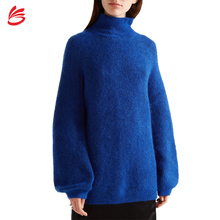 Hohe Qualität Königsblau Gestrickte Wolle Cashmere-<span class=keywords><strong>Pullover</strong></span> frauen