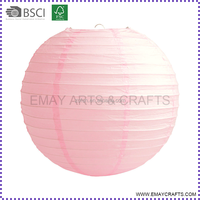 Round shape paper lantern with electric led lights