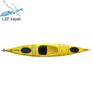 cheap plastic single sit on the top racing kayak/canoe/boat for wholesale to sit on the top
