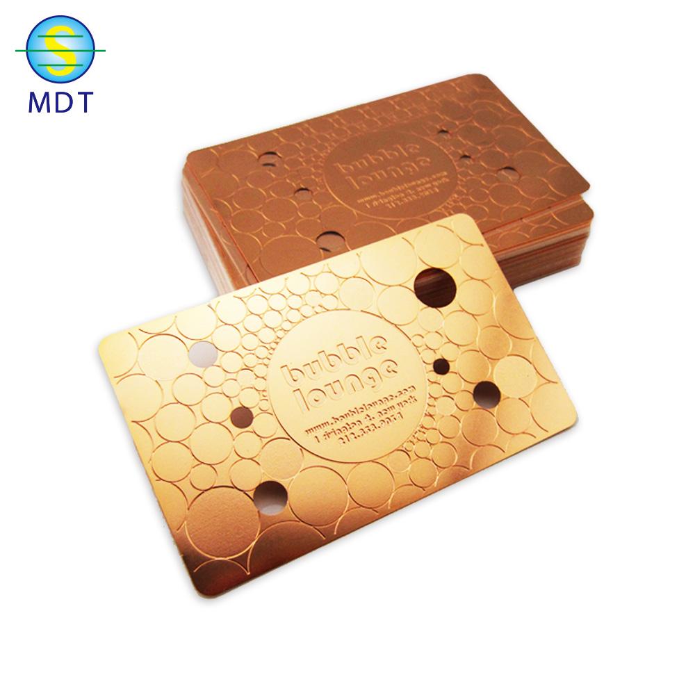 embossed cheap custom NFC business metal card