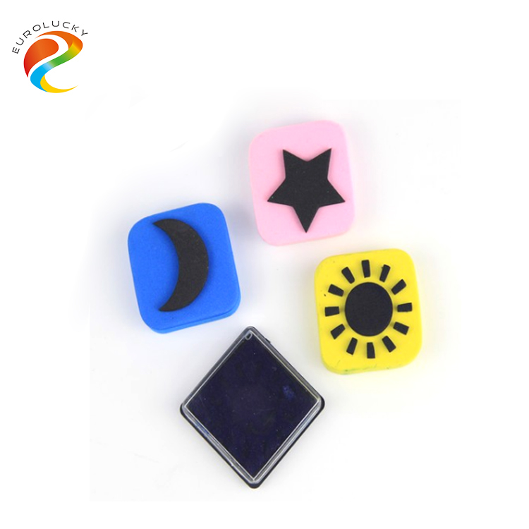 Cheap custom EVA stamp set with stamp ink pad hangzhou toy for kids