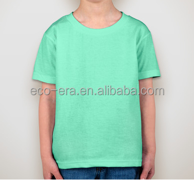LOW MOQ Wholesale Blank T-shirts Print Your Logo Custom T-shirts Kid T-shirt For School Camping Team Wear Alibaba Express