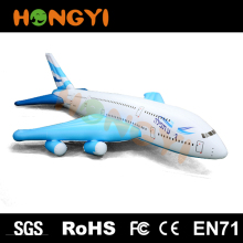 Manufacturers supply pvc inflatable sky aircraft children's toys giant airplane model with blue wings