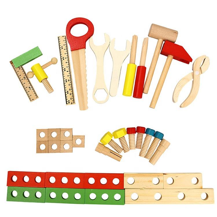 Поделки Развивающие деревянные Моделирование инструментов игрушки Мульти-функциональные дети деревянный набор инструментов Ящик для игрушек