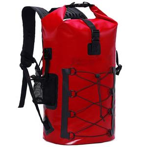 OEM Top Roll Waterproof Backpack Dry Bag Kayaking, Canoeing, Floating, River Tracing, Sailing 500D PVC with Phone case
