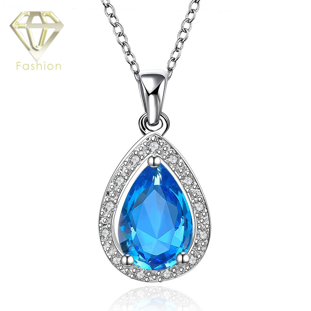 New Fashion High End Platinum Plated Classic Blue Water