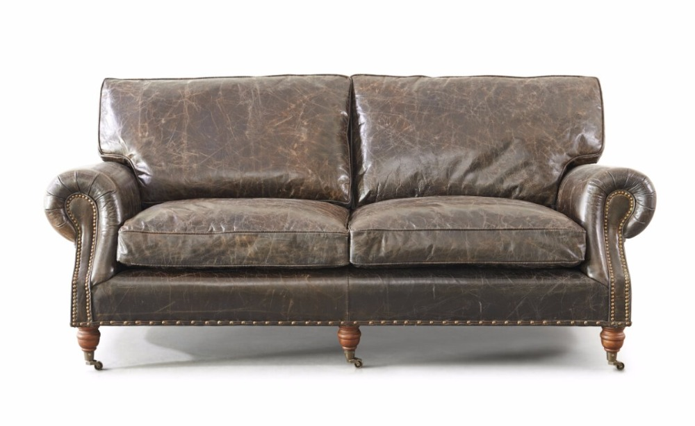 Italian Style Top Leather Couch 3 Seater Sofa