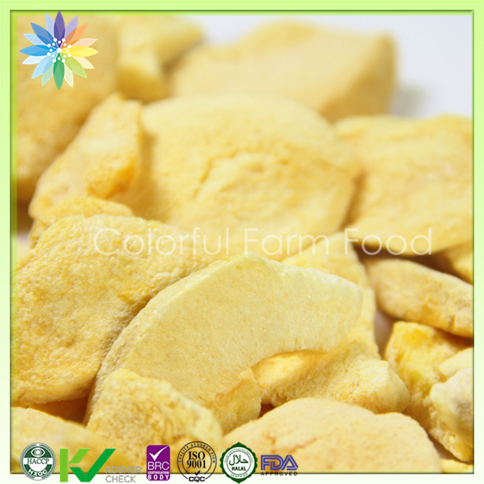 Healthy chinese snacks freeze dried yellow peach