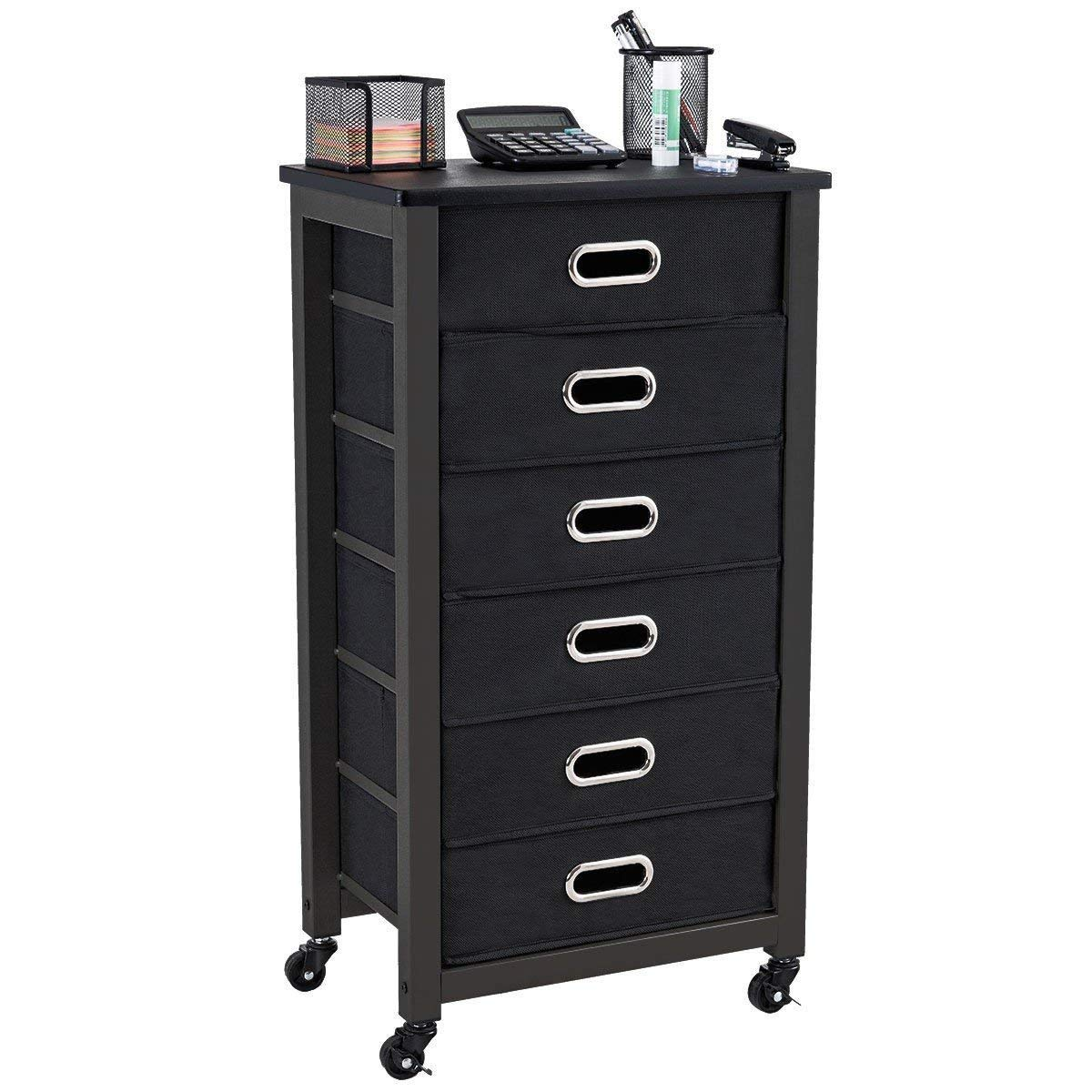 Heavy Duty Rolling Mobile Storage Filing Cabinet w/ 6 Drawers Cabinet Storage Filing Office Drawer File Home Metal Organizer Furniture BeUniqueToday