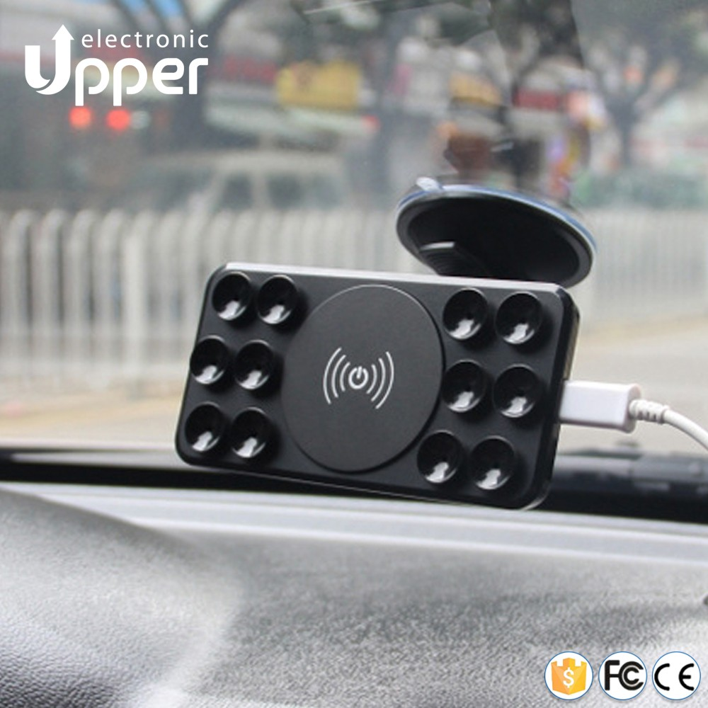 2016 universal mobile phone use electromagnetic induction type qi wireless travel car charger holder for letv le 1s for iphone