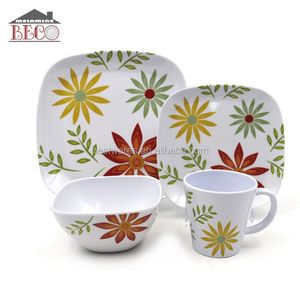 4Pcs Mexican Fall Melamine Dinnerware Set Factory