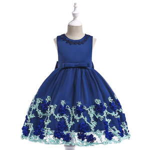royal blue girl hand embroidery designs pakistani cotton crochet dress for baby