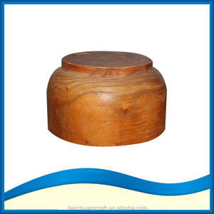 Solid wooden deep dish soup bowl blank