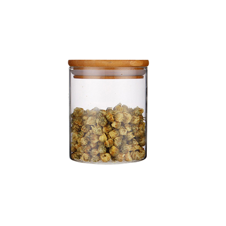 300ml Frosted cylinder glass storage jar for candle