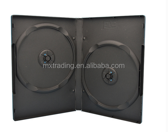 5mm dvd case/cd case with single tray or double tray