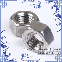 2017 UKING Factory stainless steel 304 DIN934 hex nut