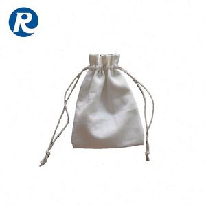 Ruiding New Products Folding Cotton Canvas Customized Colorful Printing Drawstring shopping Bags