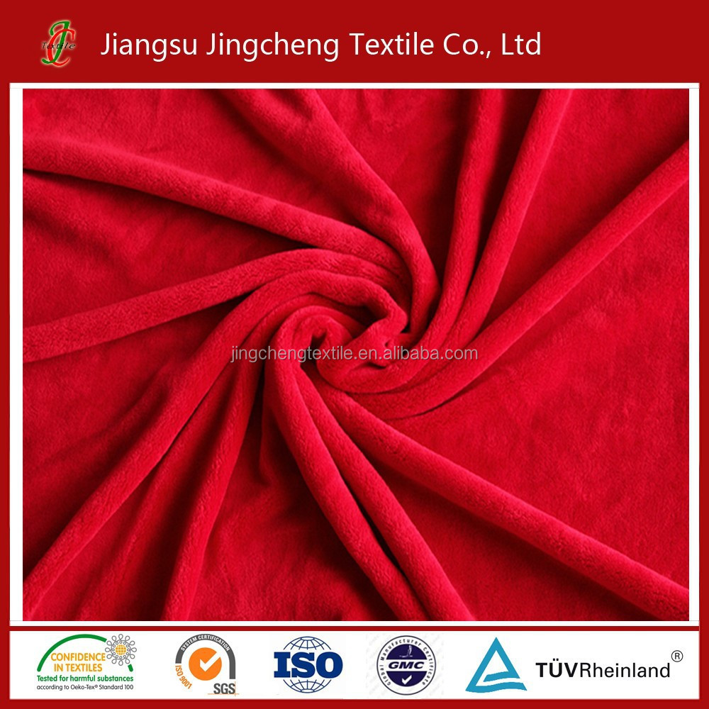 2016hot sale 100% <strong>polyester</strong> with high quality Flannel fleece fabric .