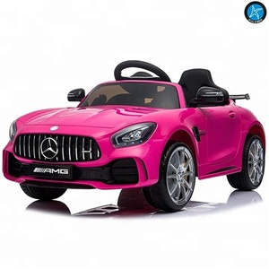 Licensed Mercedes-Benz G T R Coupe Electric Ride On Car With 2.4G Remote Control, LED Light, MP3 Socket, 12V 2 Motors - Pink