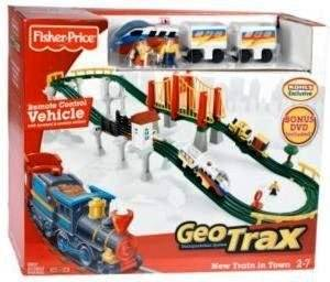 Fisher-Price GeoTrax Transportation System Remote Control - New Train in Town (with Bonus DVD)