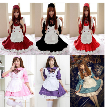 Halloween Anime Cosplay Maid Costume Lolita French Maid Babydoll