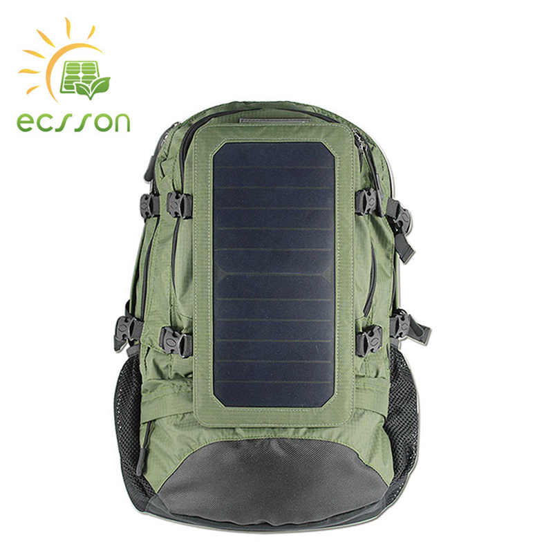 Modern popular long-life school student solar backpack for various phones and lights