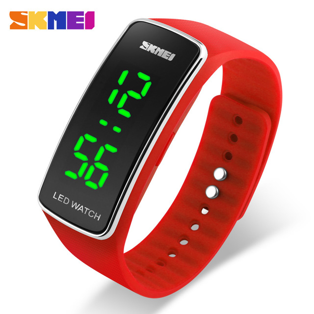Big Sale !!! Skmei Cheap Led Digital Sport wacthes for Boys and G irls Coin Thin Clock Bracelet Wristband Watch 1119