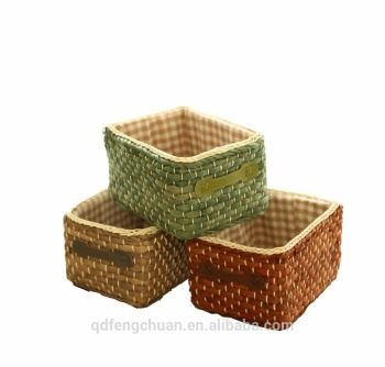 Corn Husk Hand Made Straw Storage Baskets, High Quality Corn Husk Hand Made Straw  Storage
