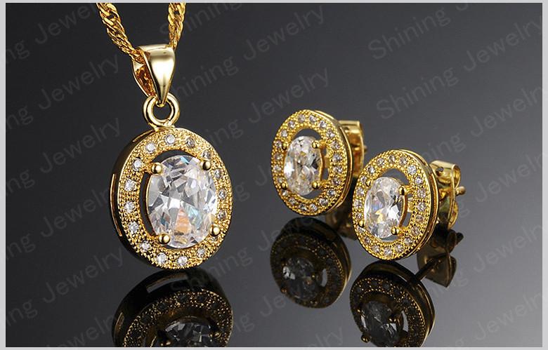 New Design Top Quality Fashion 18k Dubai Gold Plated Jewelry Set