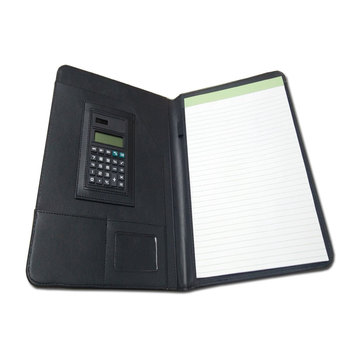 a3 size faux leather resume folder pad briefcase with pocket calculator portfolio - Resume Folder