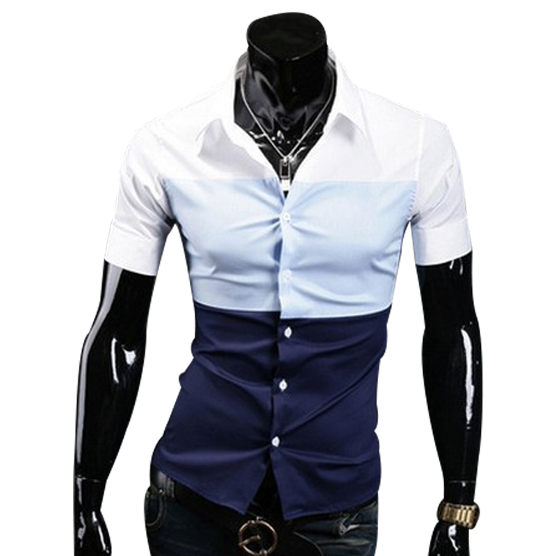 43dc1acd670 Get Quotations · 2015 Spring Summer Autumn Slim Fit Men Shirt Male Short  Sleeved Korean Casual Dress Shirts Fashion