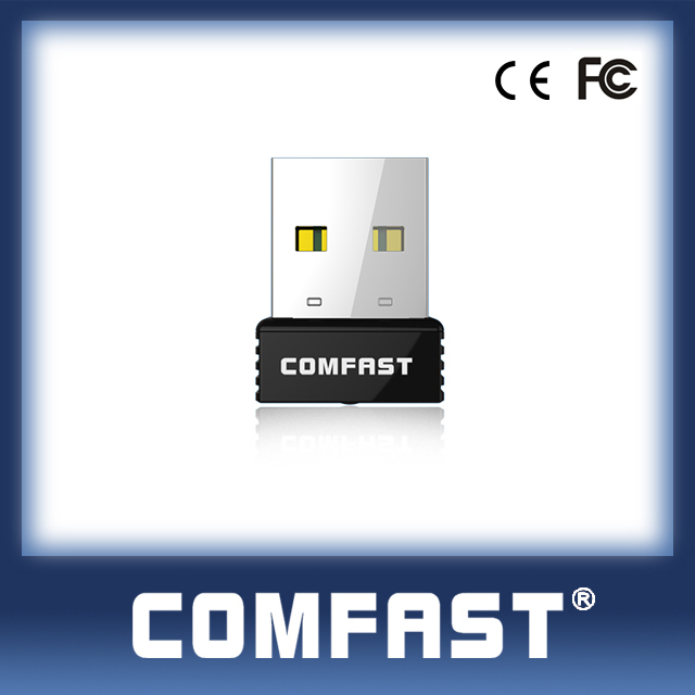 COMFAST (CF-WU712P) RTL8188EUS WPS Button Factory Price 150Mbps 802.11n Nano Wireless N WiFi USB Adapter