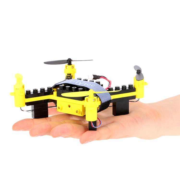 11. T11S_Yellow_WIFI_FPV_DIY_Building_Blocks_Drone_with_0.3MP_Camera_RC_Drone