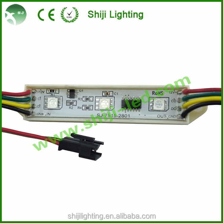 Digital SMD5050 ws2801 rgb pixel led channel letter module