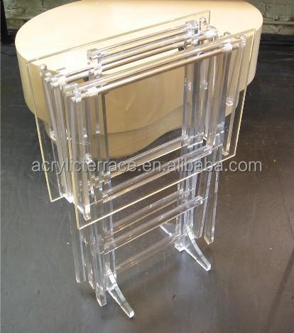 Credence Side Table HA14030101053 Acrylic Folding Tray Table