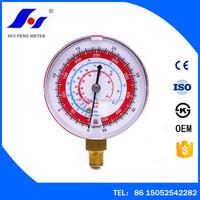 Air Conditioner R410A R134A R22 Refrigerant Manifold Red Case High Pressure Gauge PSI KPA