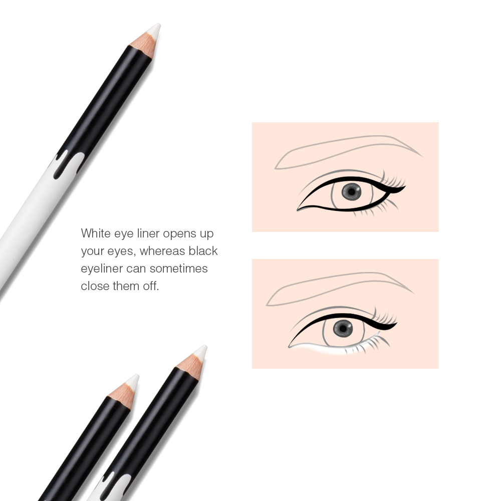 Menow P112 Makeup Silky Wood Cosmetic White Eyeliner Pencil