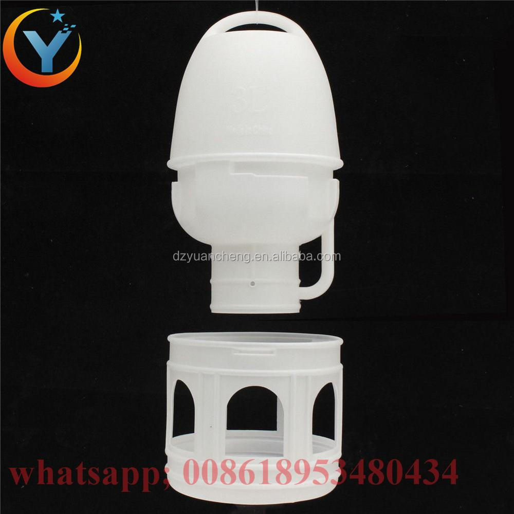 Removeble White Plastic Drinker With Handle For Pigeons Bird 1L 3L 5L 10L