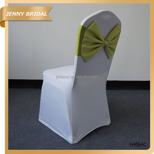 SH064 New fashion bow custom spandex custom banquet chair sashes