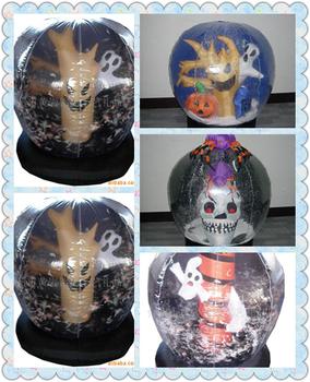halloween snow globe inflatable halloween decoration