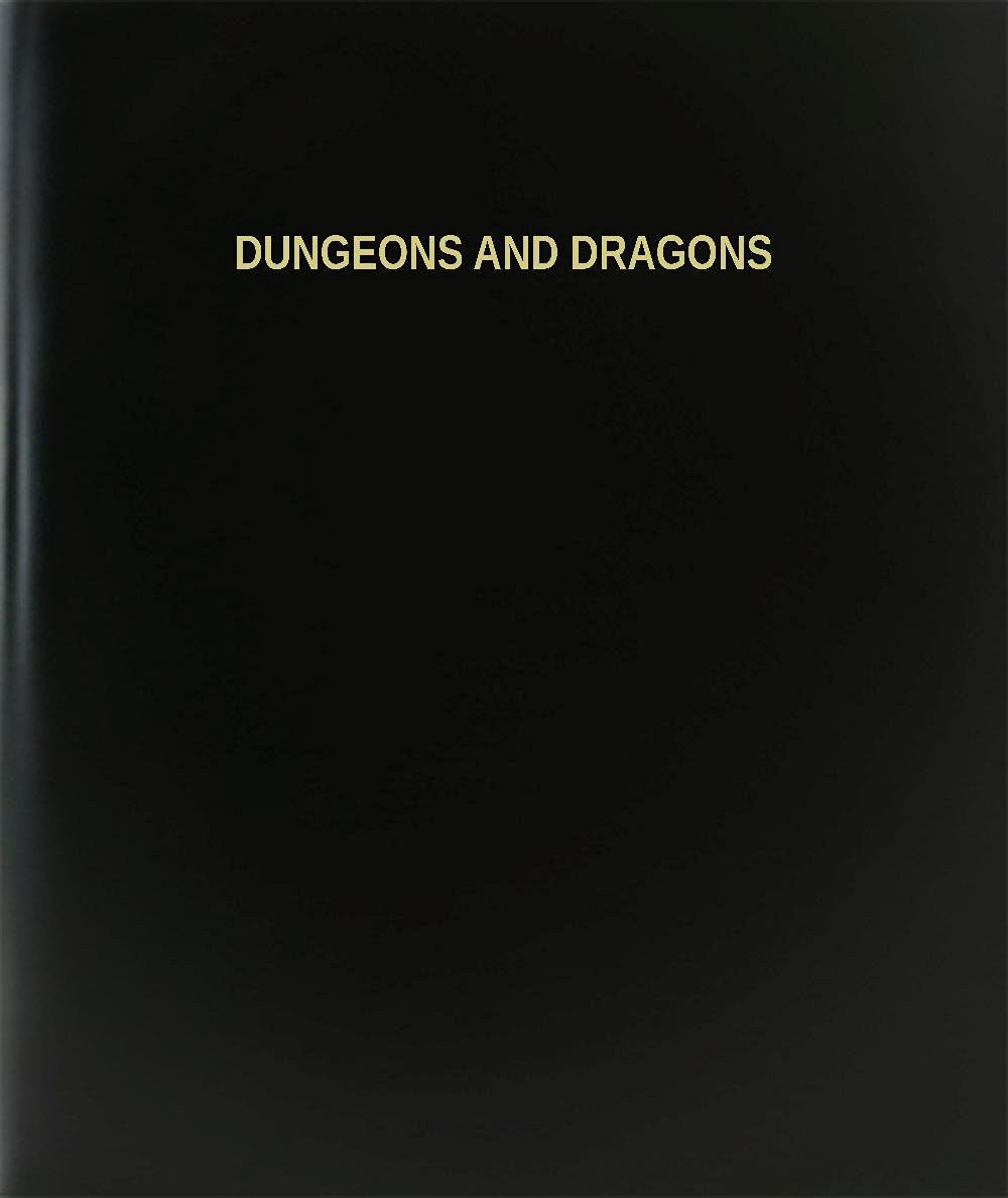"BookFactory® Dungeons And Dragons Log Book / Journal / Logbook - 120 Page, 8.5""x11"", Black Hardbound (XLog-120-7CS-A-L-Black(Dungeons And Dragons Log Book))"