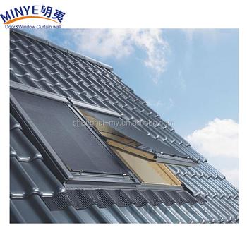 factories Aluminum profile sliding open opening glass roof skylight