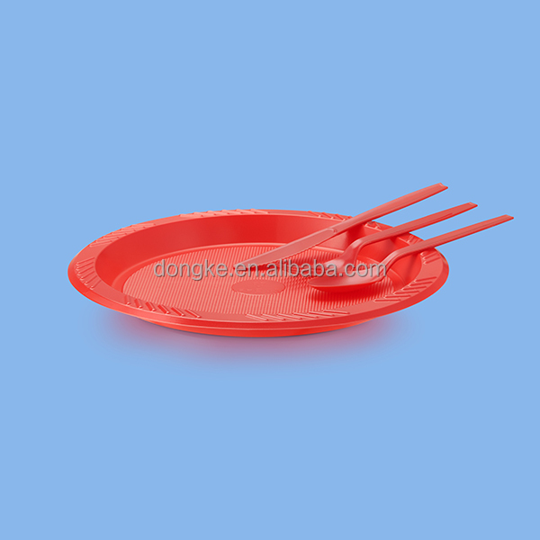 hot sale plastic plate&knife&Fork&Spoon for cake