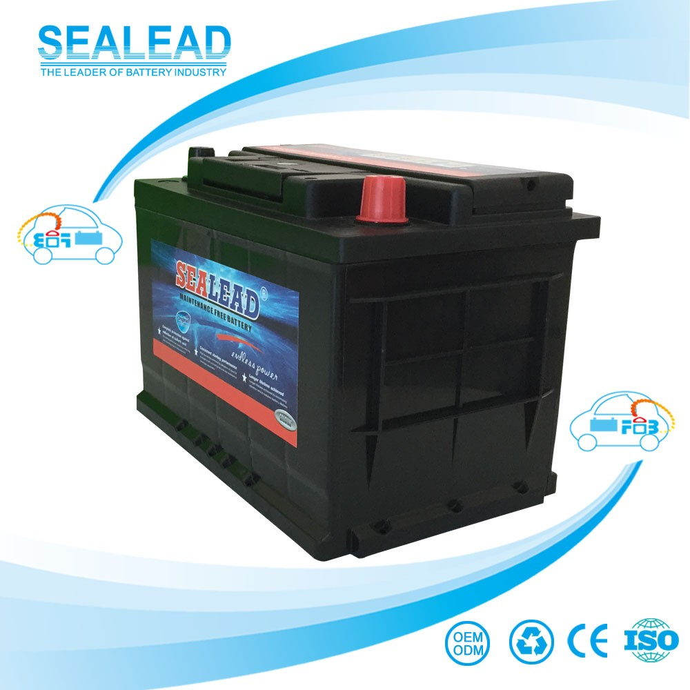 Sealead 12v 66ah MF AUTO car battery 274*175*190mm