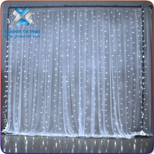 Safely non-electricity tFiber optic led twinkling stars led waterfall curtain lights,led star curtain
