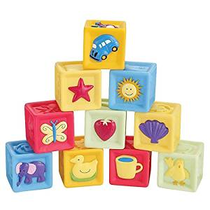 Baby Learning Blocks 10Pcs /set baby blocks toys non-toxic soft plastic Cartoon Cube Building Blocks Baby Kids Children Educational Toy