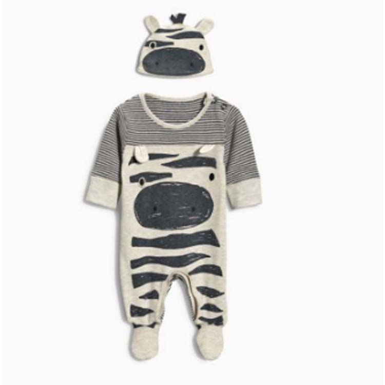 OEM newborn footie pants set with hat boys designer clothes dress up